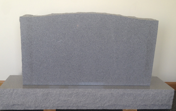 Granite headstone without inscription